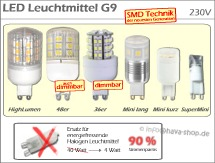 LED Leuchtmittel G9 (230V)