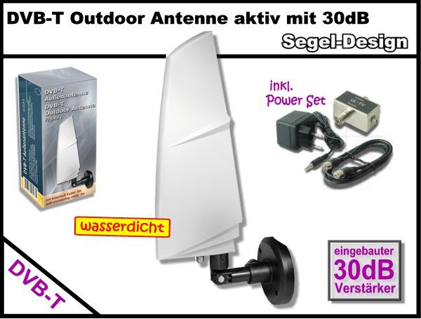 30db dvb t design au en antenne au enantenne outdoor tv antenna dvbt ukw camping ebay. Black Bedroom Furniture Sets. Home Design Ideas
