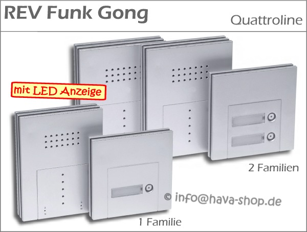 rev funkgong funk gong klingeltaster klingel 2 familie ebay. Black Bedroom Furniture Sets. Home Design Ideas