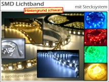 LED Lichtband flexibel LC Light (schwarz) mit Stecksystem 1m