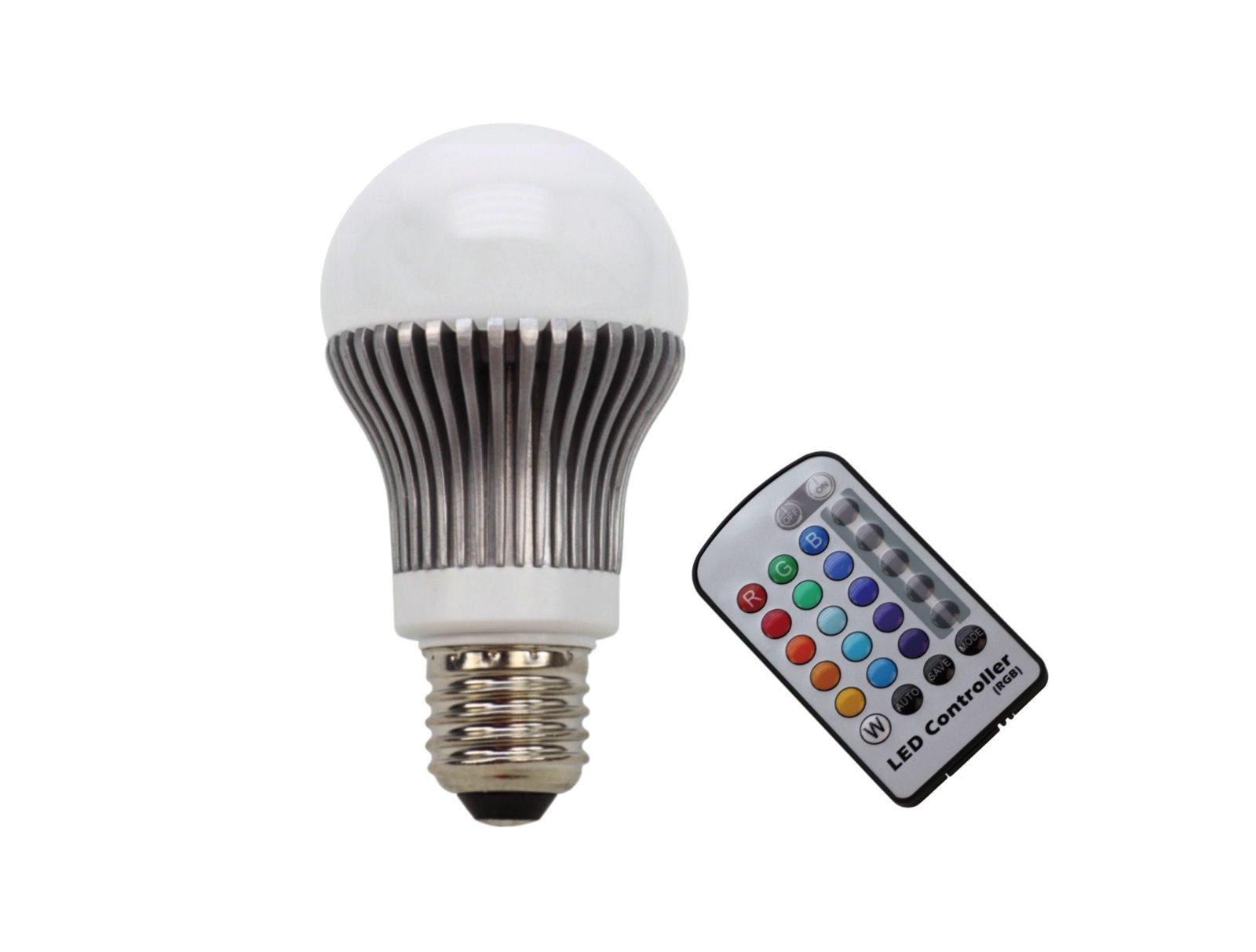 5w power led birne rgb licht lampe fernbedienung farbwechsel e27 kugel remote ebay. Black Bedroom Furniture Sets. Home Design Ideas