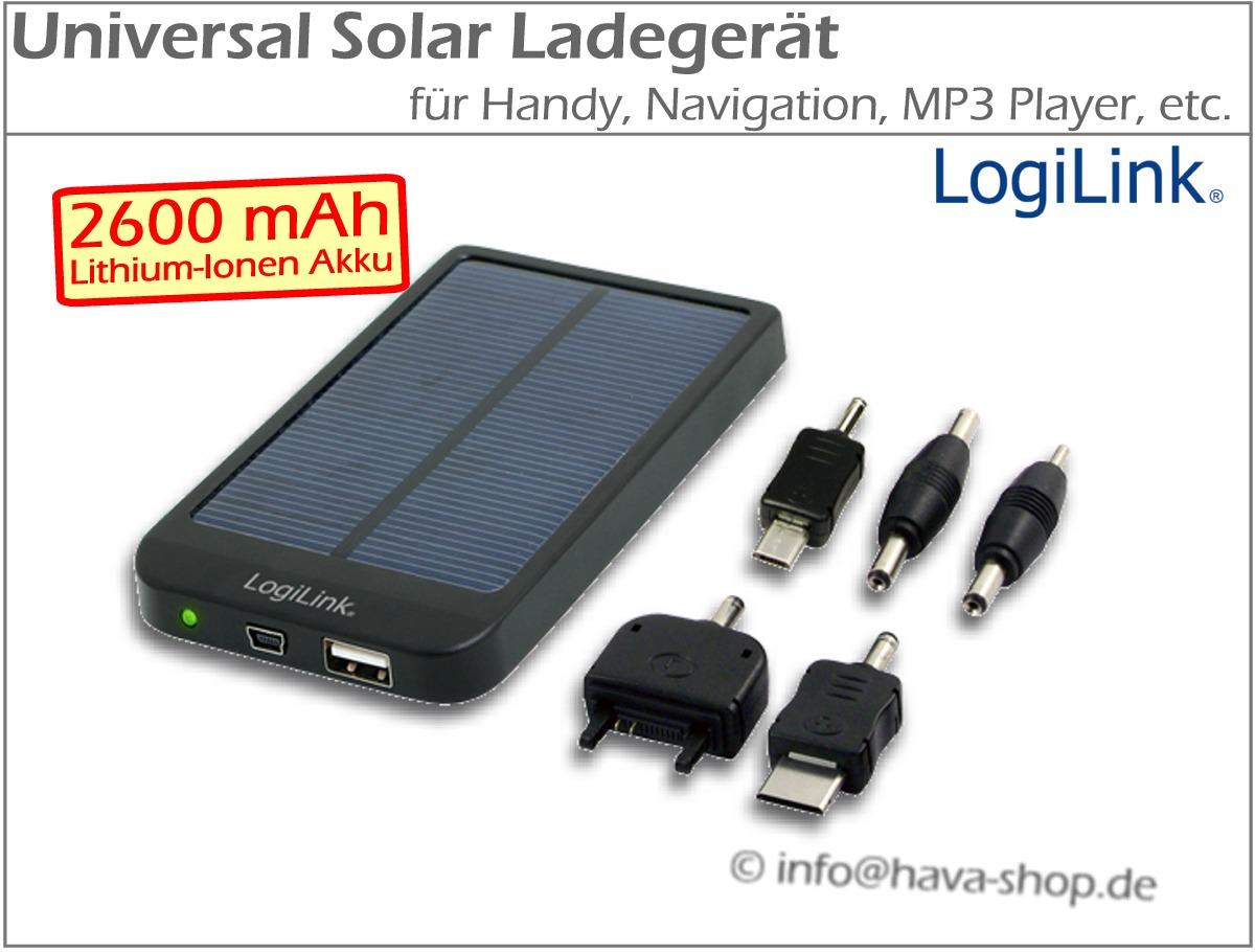 universal solar ladeger t solarladeger t akku handy navi power bank 2600mah usb ebay. Black Bedroom Furniture Sets. Home Design Ideas