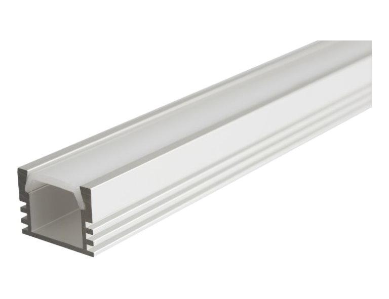 LED Alu Profil Aluprofil Schiene Aluminium LED Strip Lichtband Aufbau 1m 2m matt