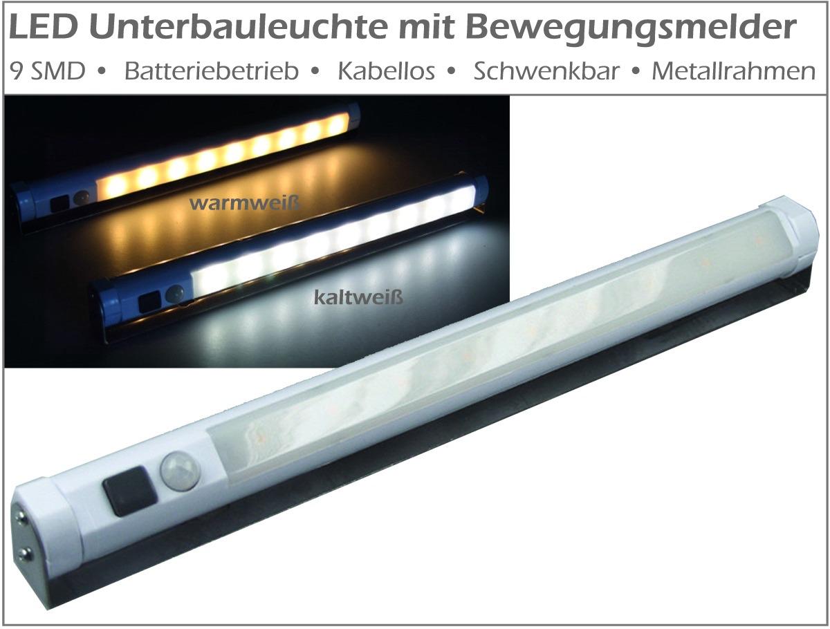 led smd unterbauleuchte bewegungsmelder leuchte lampe batterie batteriebetrieb ebay. Black Bedroom Furniture Sets. Home Design Ideas