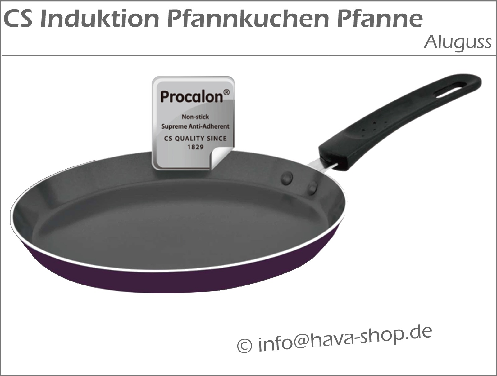 antihaft induktion pfannkuchen pfanne aluguss edelstahl 24 cm pancake maker pan ebay. Black Bedroom Furniture Sets. Home Design Ideas
