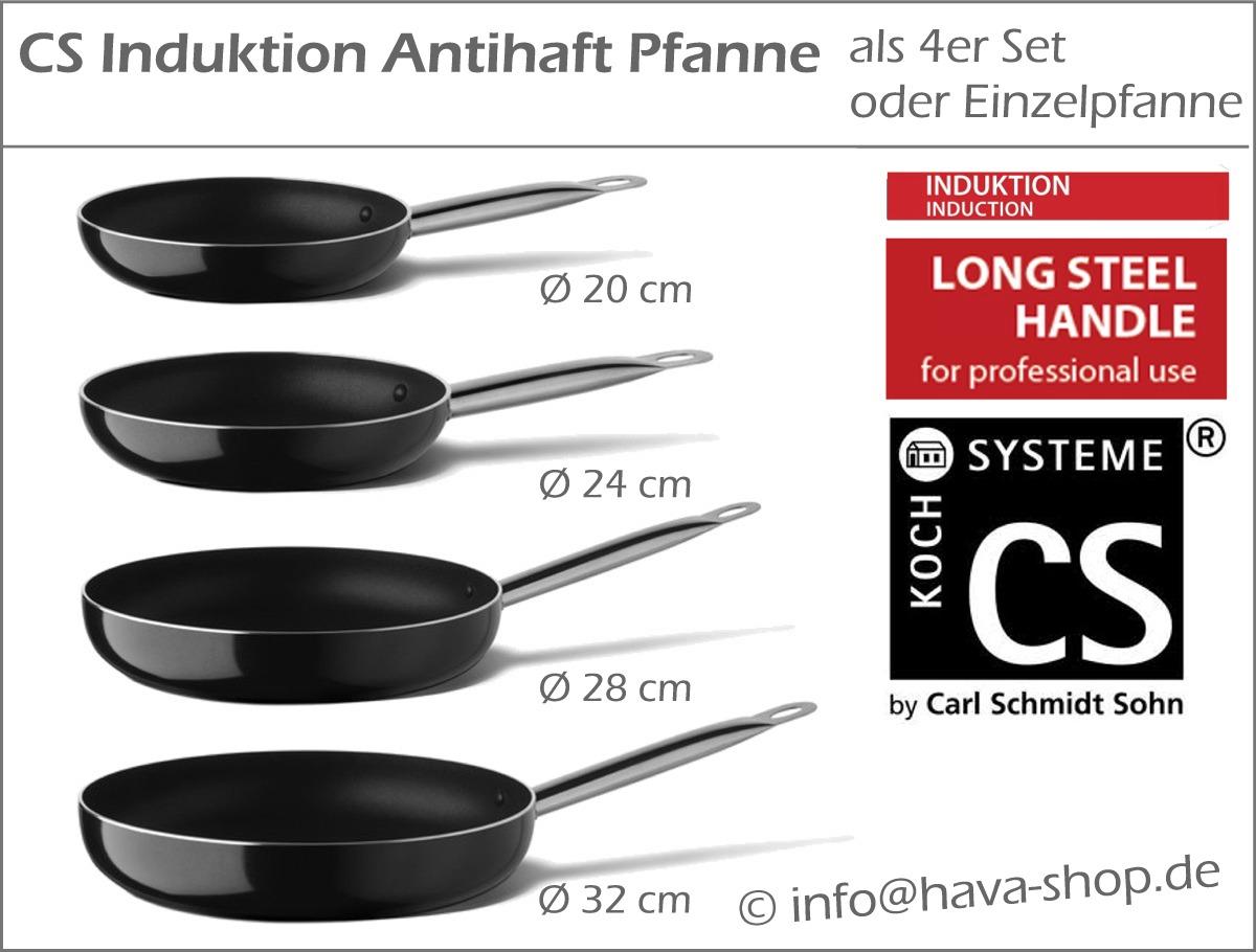 Induktion Antihaft Stahlgriff Pfanne Bratpfanne 4er Set 20