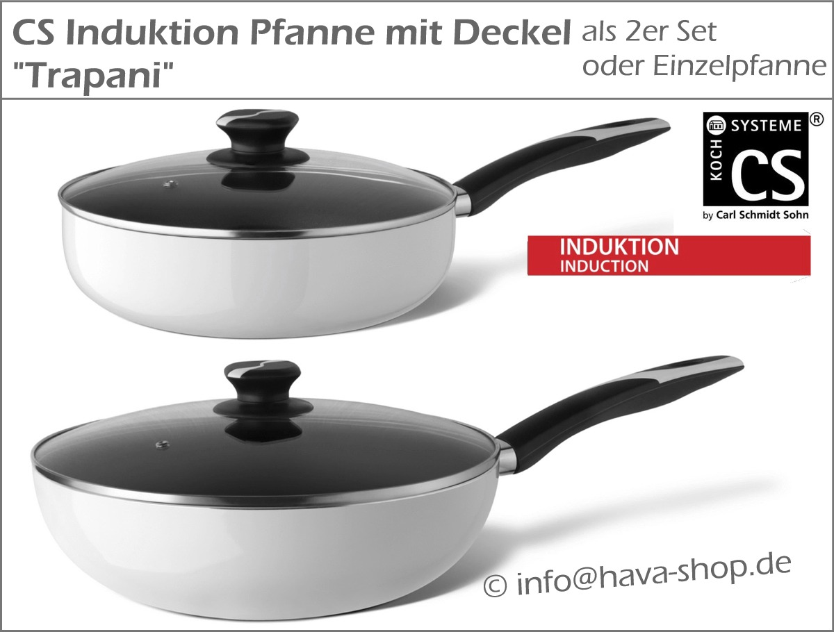 induktion pfanne deckel glasdeckel induktionspfanne wok bratpfanne set 28 34 cm ebay. Black Bedroom Furniture Sets. Home Design Ideas