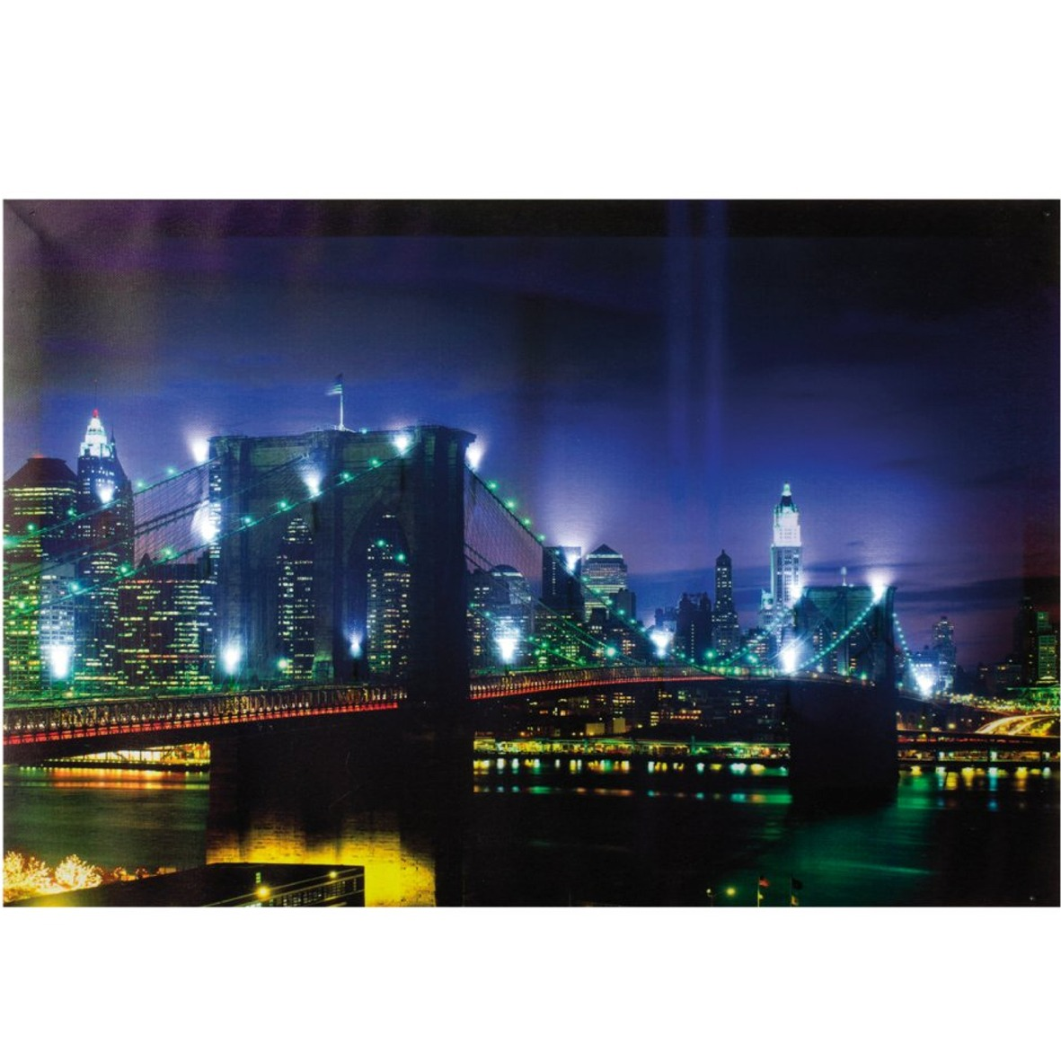 led bilder wandbild retro beleuchtet bild schild leinwand new york paris london ebay. Black Bedroom Furniture Sets. Home Design Ideas