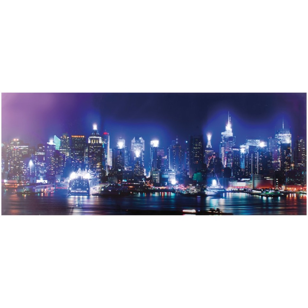 led bilder wandbild retro beleuchtet bild schild leinwand new york paris london ebay. Black Bedroom Furniture Sets. Home Design Ideas