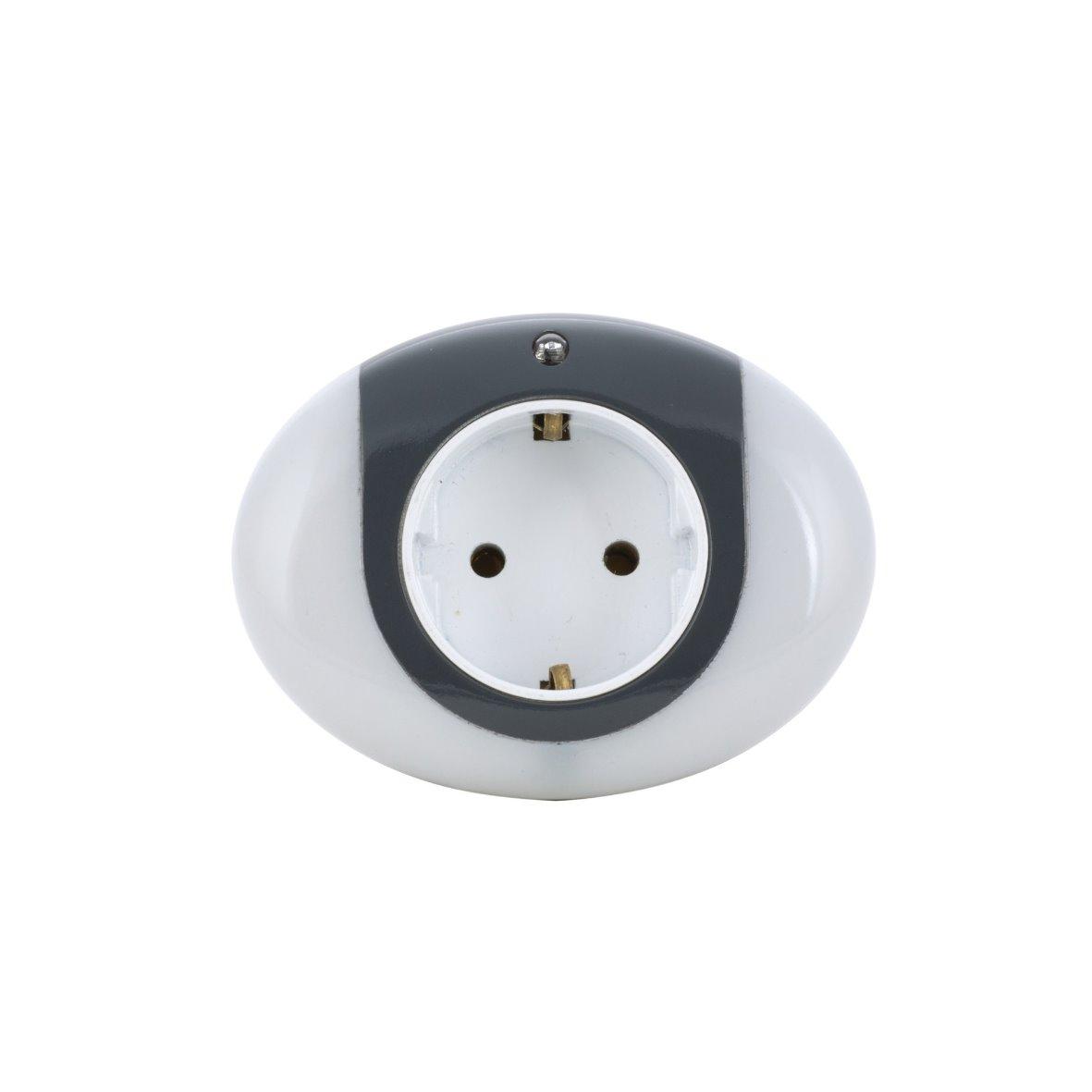 Zwischenstecker-LED-Nachtlicht-Steckdose-Leuchte-Lampe-Nachtlampe-230-V-Sensor