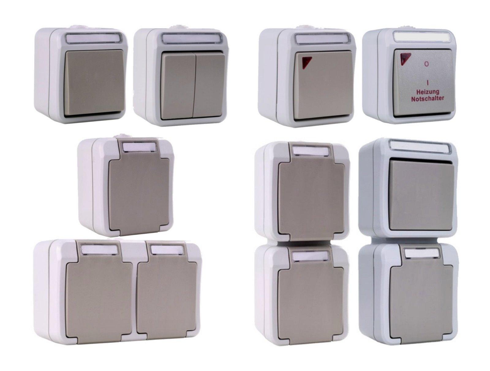 feuchtraum aufputz schalter namensschild serie aufbau. Black Bedroom Furniture Sets. Home Design Ideas