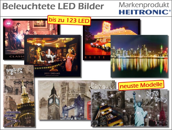 led bilder beleuchtet bild schild wandbild neon eiffelturm new york paris london ebay. Black Bedroom Furniture Sets. Home Design Ideas