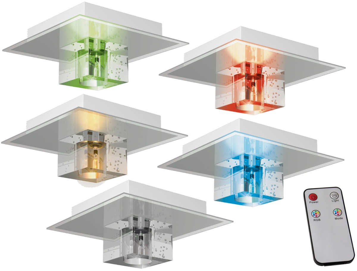 rgb del design plafonnier luminaire couleur changeante t l commande spot cristal ebay. Black Bedroom Furniture Sets. Home Design Ideas