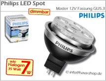 PHILIPS LED Spot 12V Master 7W warmweiß dimmbar