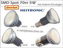 LED Spot 70er SMD matt dimmbar