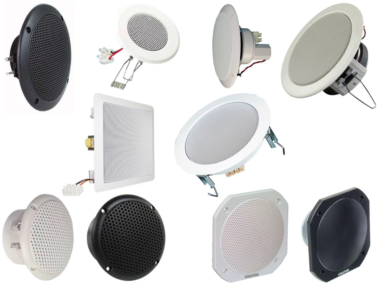 visaton einbau lautsprecher speaker decke au en bad feuchtraum schraube klemm ebay. Black Bedroom Furniture Sets. Home Design Ideas