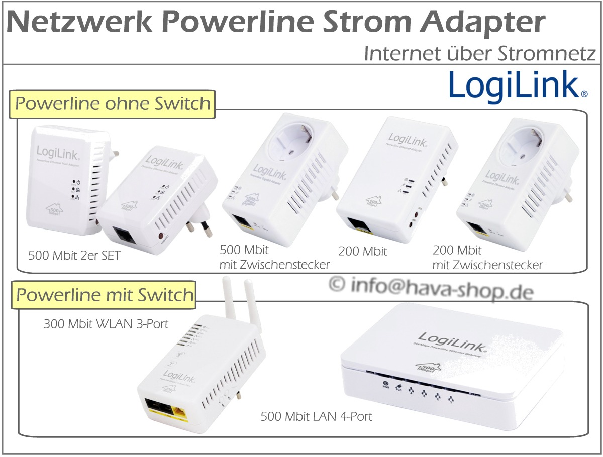 powerline netzwerk adapter netzwerkadapter internet steckdose strom mbit 300 500 ebay. Black Bedroom Furniture Sets. Home Design Ideas