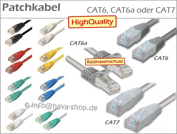 10x netzwerkkabel patchkabel lan netzwerk kabel cat5e cat6 cat6a cat7 dsl 1 m ebay. Black Bedroom Furniture Sets. Home Design Ideas