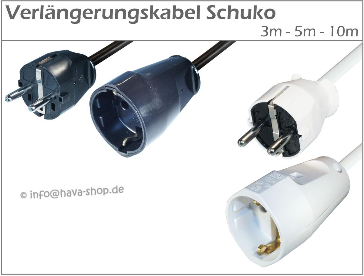 verl ngerungskabel schuko netzkabel stromkabel strom kabel. Black Bedroom Furniture Sets. Home Design Ideas