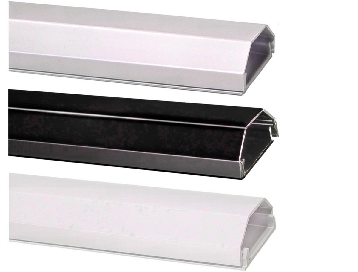 aluminium kabelkanal alu kabel kanal kabelleiste lcd tv eckig wei silber 110cm ebay. Black Bedroom Furniture Sets. Home Design Ideas