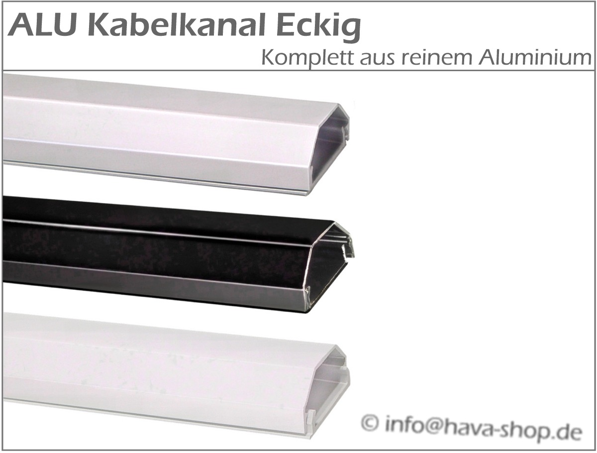 15 9 m aluminium kabelkanal alu kabel kanal. Black Bedroom Furniture Sets. Home Design Ideas