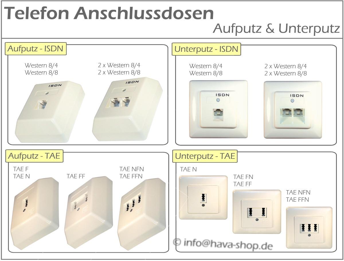 telefondose telefon dose isdn tae aufputzdose unterputzdose western rj45 nfn nf ebay. Black Bedroom Furniture Sets. Home Design Ideas