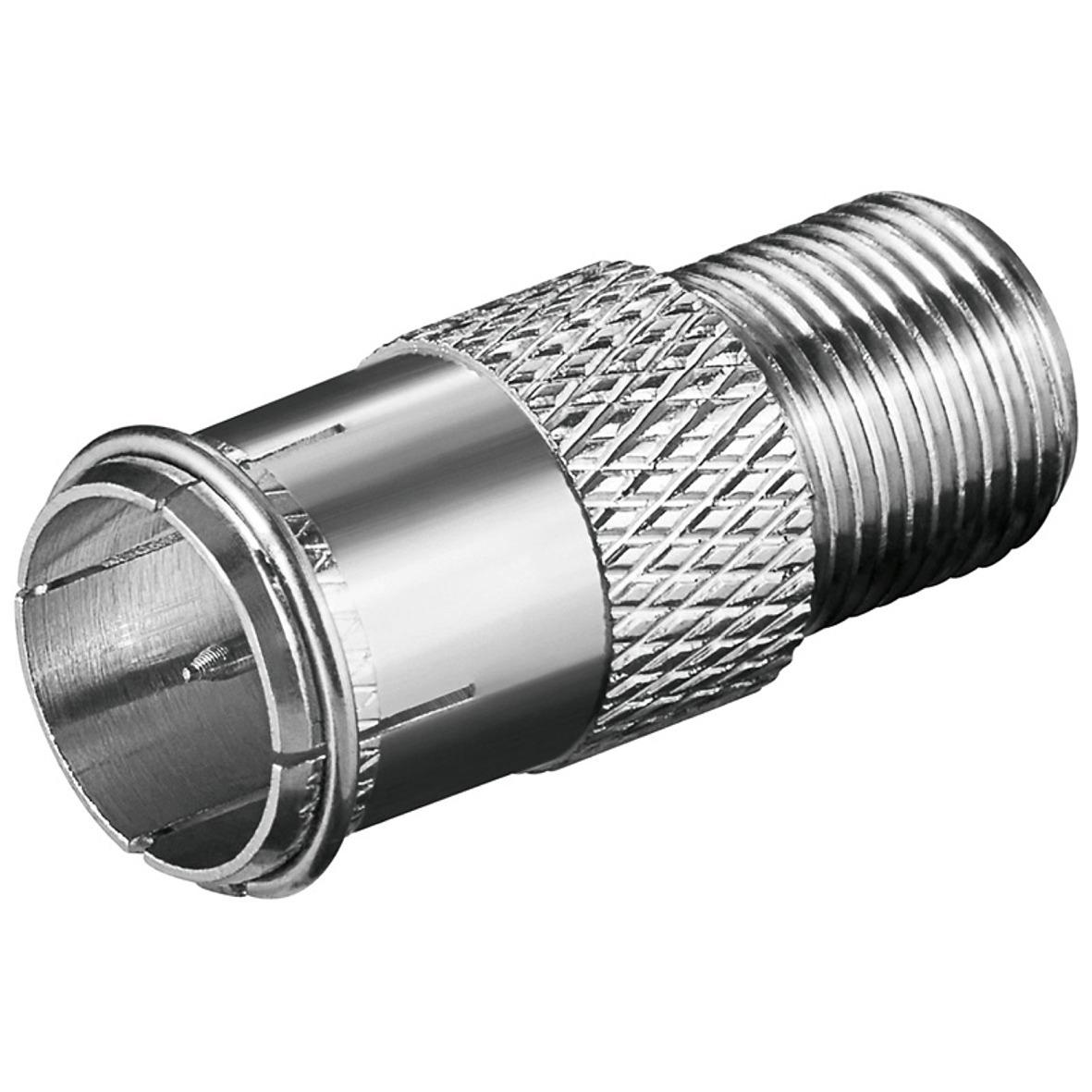 10x kabelverbinder verbinder f stecker kupplung quick kabel verbinden koax sat ebay. Black Bedroom Furniture Sets. Home Design Ideas
