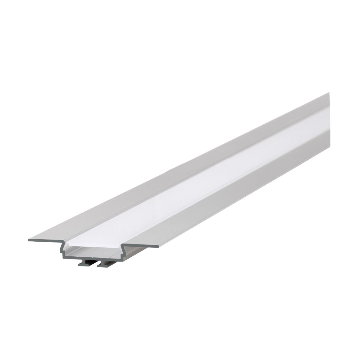 led alu profil aluprofil aluminium schiene strip streifen einbau lichtband 1m 2m ebay. Black Bedroom Furniture Sets. Home Design Ideas