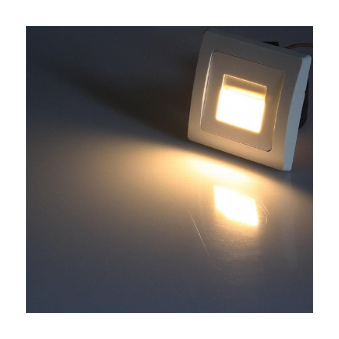 led wandeinbauleuchte 230v f r schalterdose 60mm. Black Bedroom Furniture Sets. Home Design Ideas