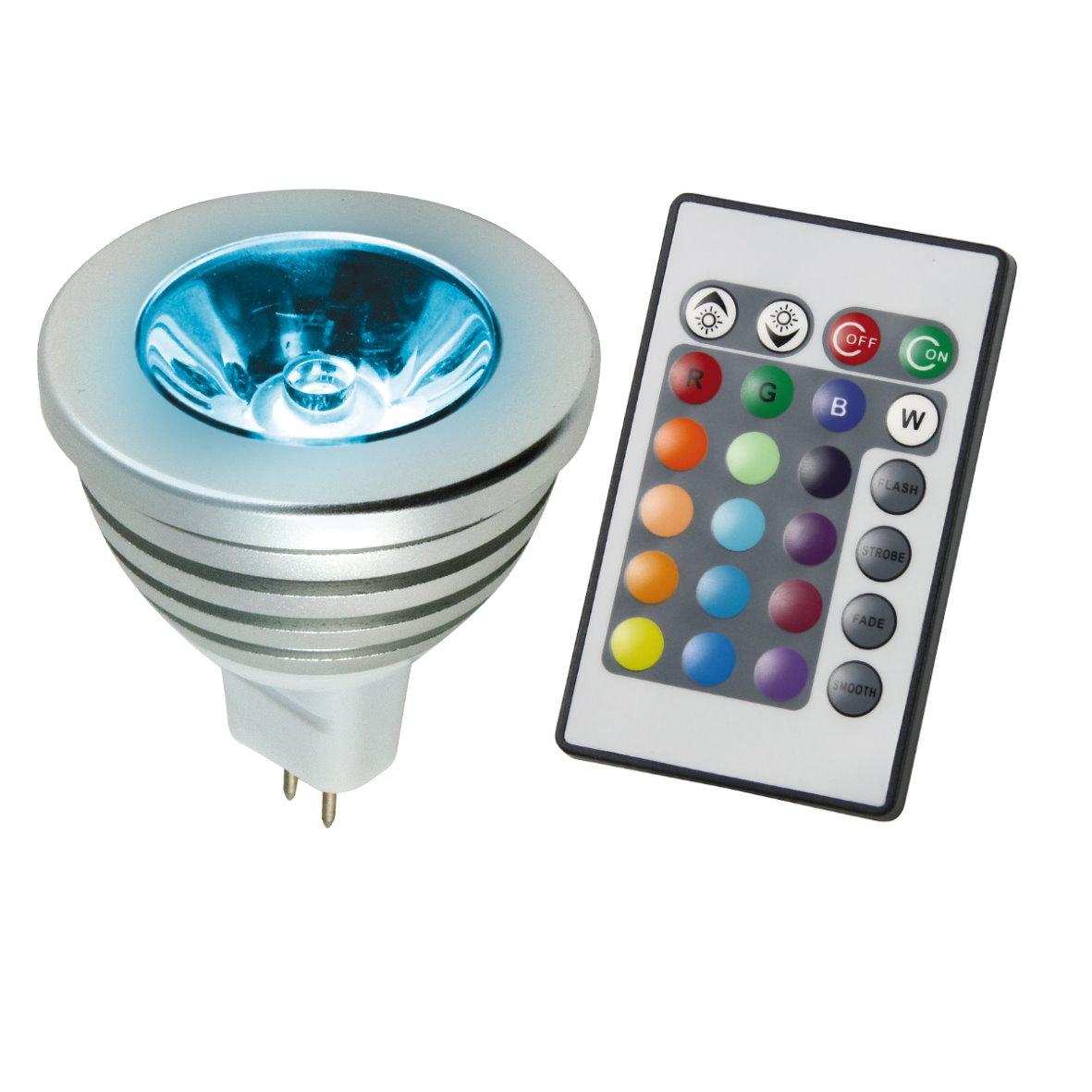 power led rgb leuchtmittel farbwechsel strahler reflektor. Black Bedroom Furniture Sets. Home Design Ideas