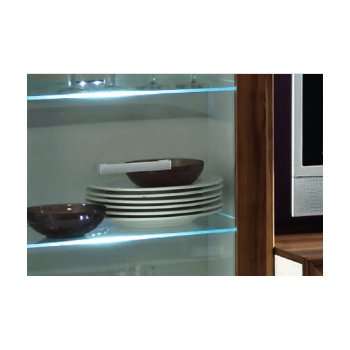 Led glasbodenbeleuchtung glaskante glasboden metall clip for Design artikel shop
