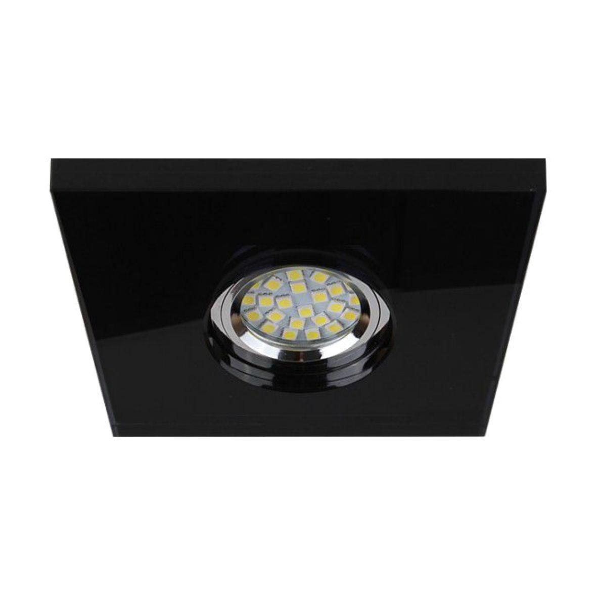 glas einbauleuchte spot strahler kristall einbaurahmen einbau einbaustrahler ebay. Black Bedroom Furniture Sets. Home Design Ideas