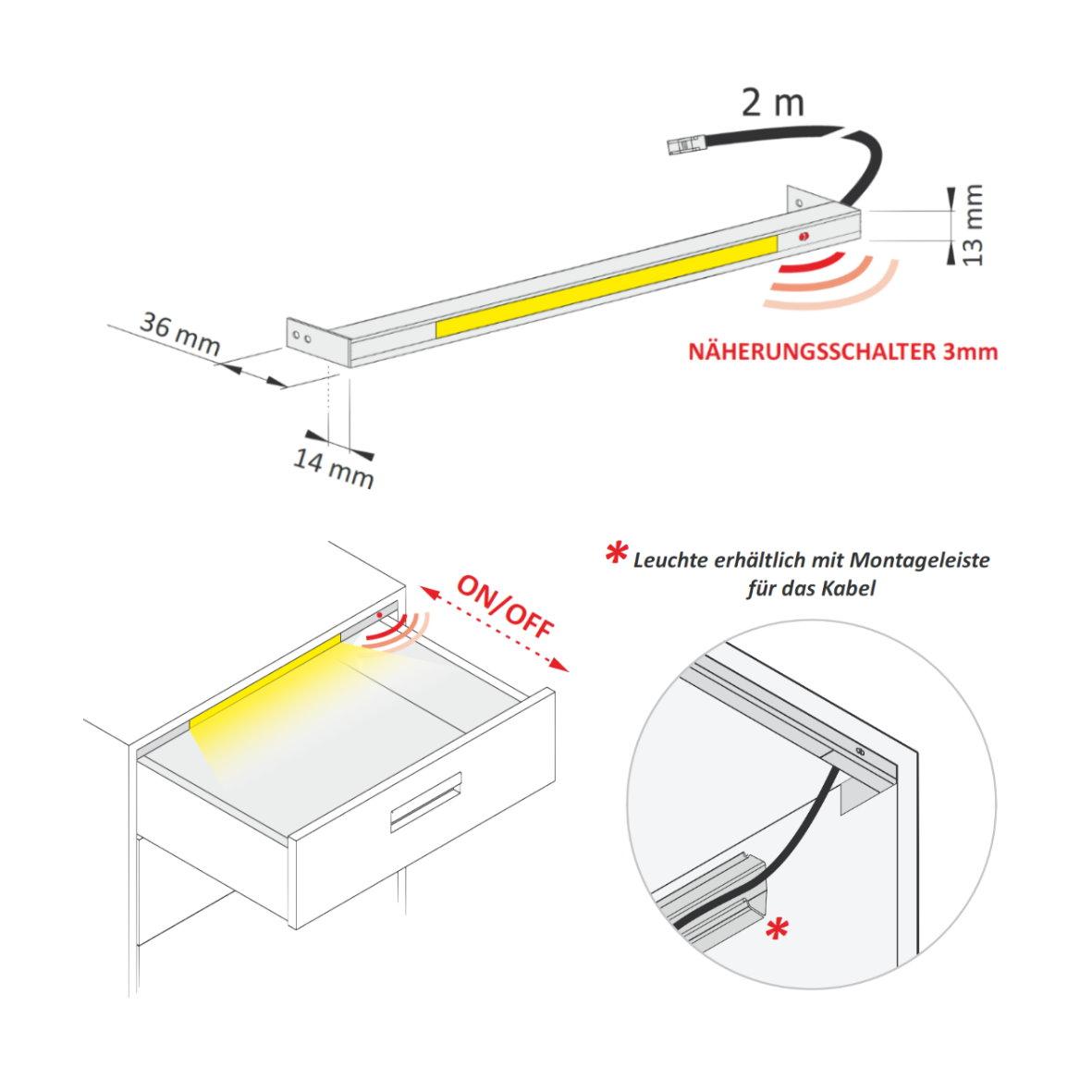 Led schrank sensor interessante ideen f r for Design artikel shop