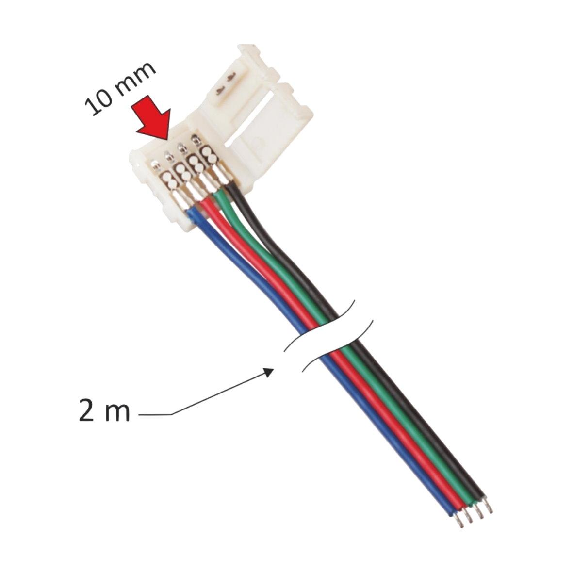 LED Adapter Lichtband Strip Verbindungskabel Kabel PIN Stecker Clip ...