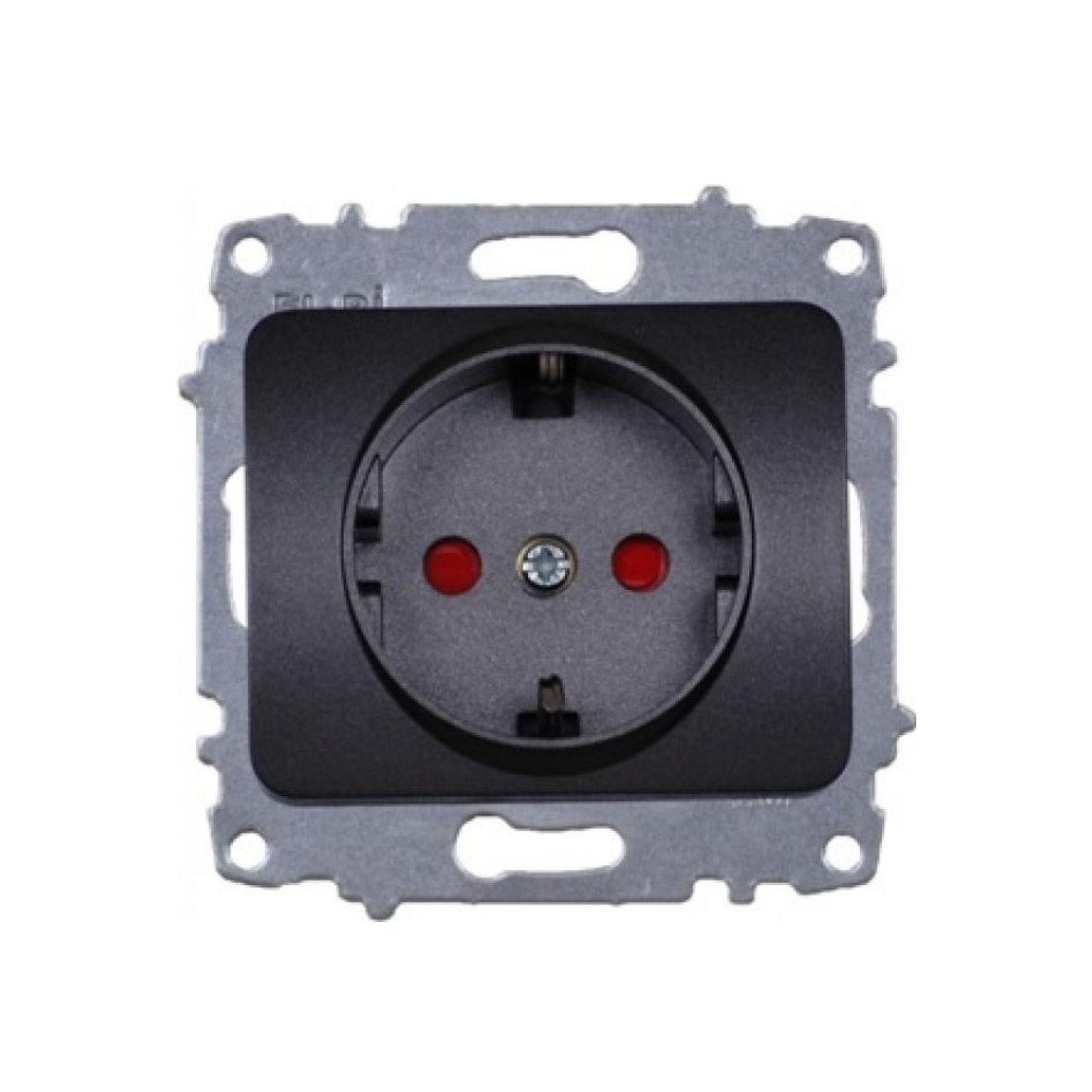 EL-BI Tuna anthrazit Schalterprogramm schwarz Dose Serie - auch LED ...