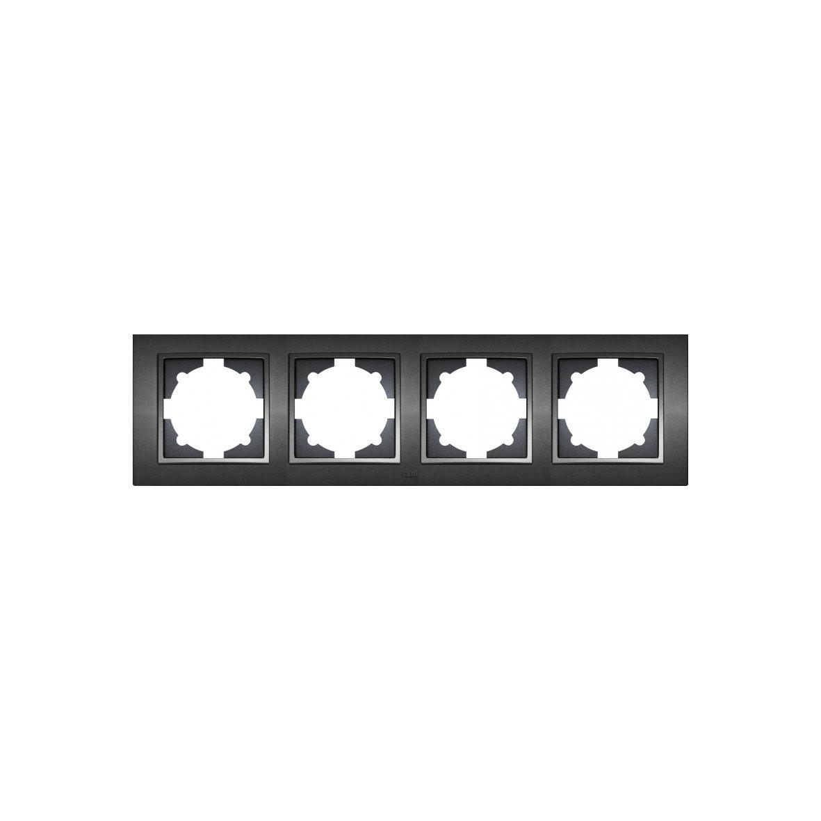 EL-BI ZENA Unterputz Schalterprogramm Schalter Serie schwarz ...