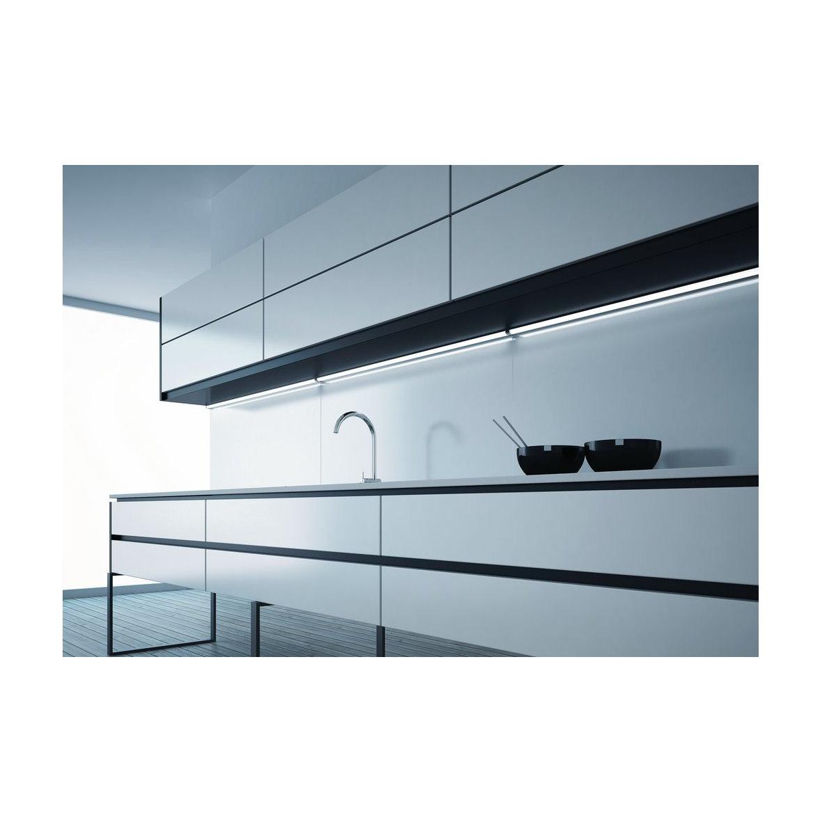 domusline led k chenleuchte unterbau leuchte touch dimmer lichtleiste leiste alu ebay. Black Bedroom Furniture Sets. Home Design Ideas
