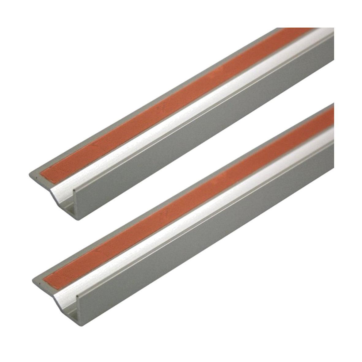 hera 2x led alu glasprofil profil aluprofil aluminium strip streifen vitrine ebay. Black Bedroom Furniture Sets. Home Design Ideas