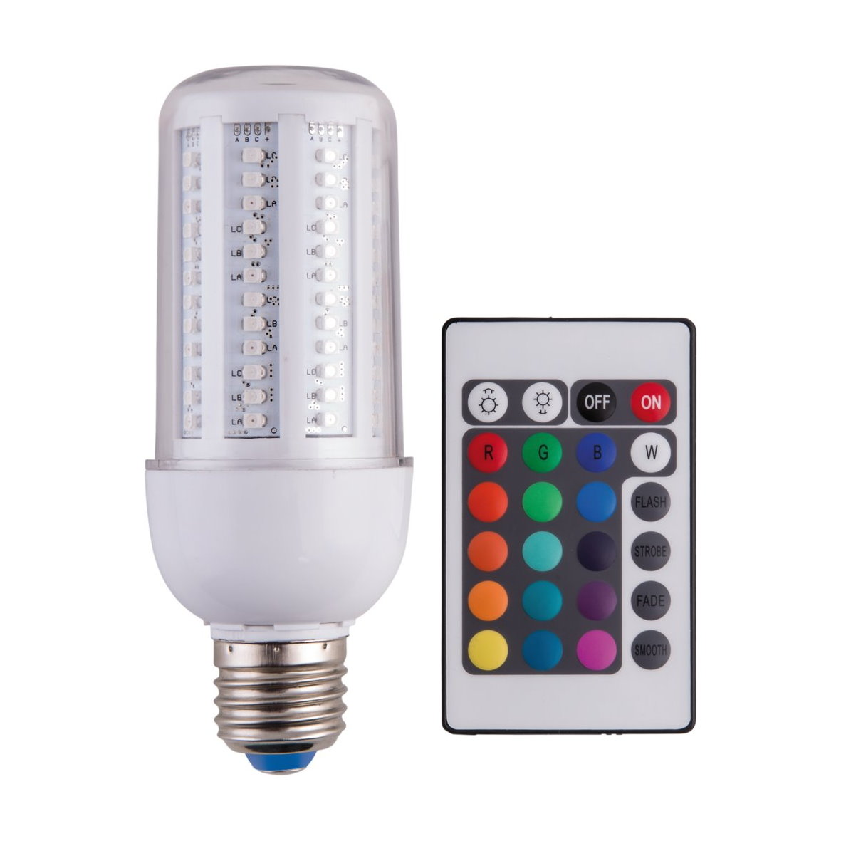 led smd 360 wand lamp dimmable corn light e14 e27 rgb. Black Bedroom Furniture Sets. Home Design Ideas