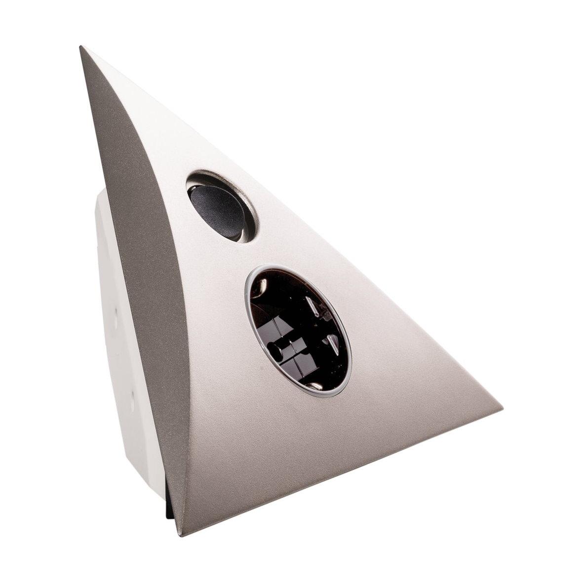 hera aufputz eck steckdose 230v aufbau ecksteckdose k che tisch wand schalter. Black Bedroom Furniture Sets. Home Design Ideas