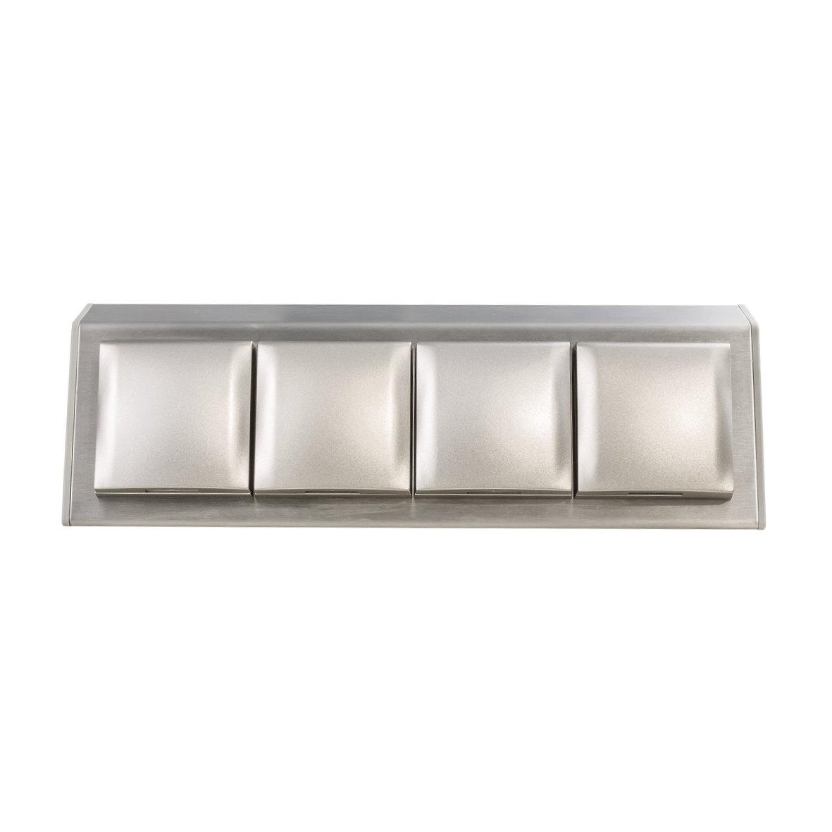 design aufbau steckdose edelstahl aufputz tisch küche bad klappe