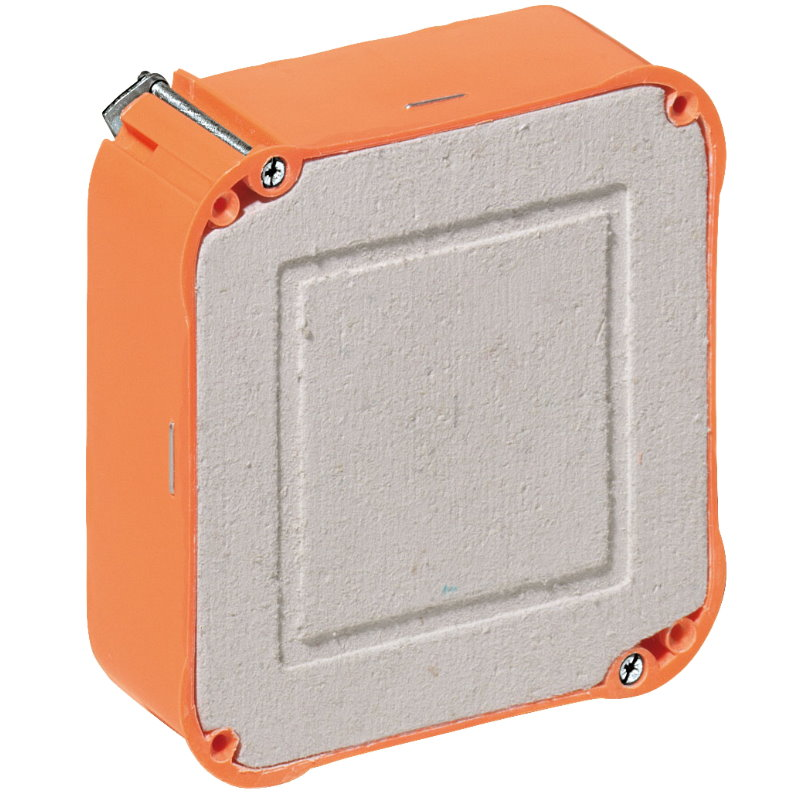 hohlwand unterputz up montage dose schalter kasten einbau geh use orange kabel ebay. Black Bedroom Furniture Sets. Home Design Ideas