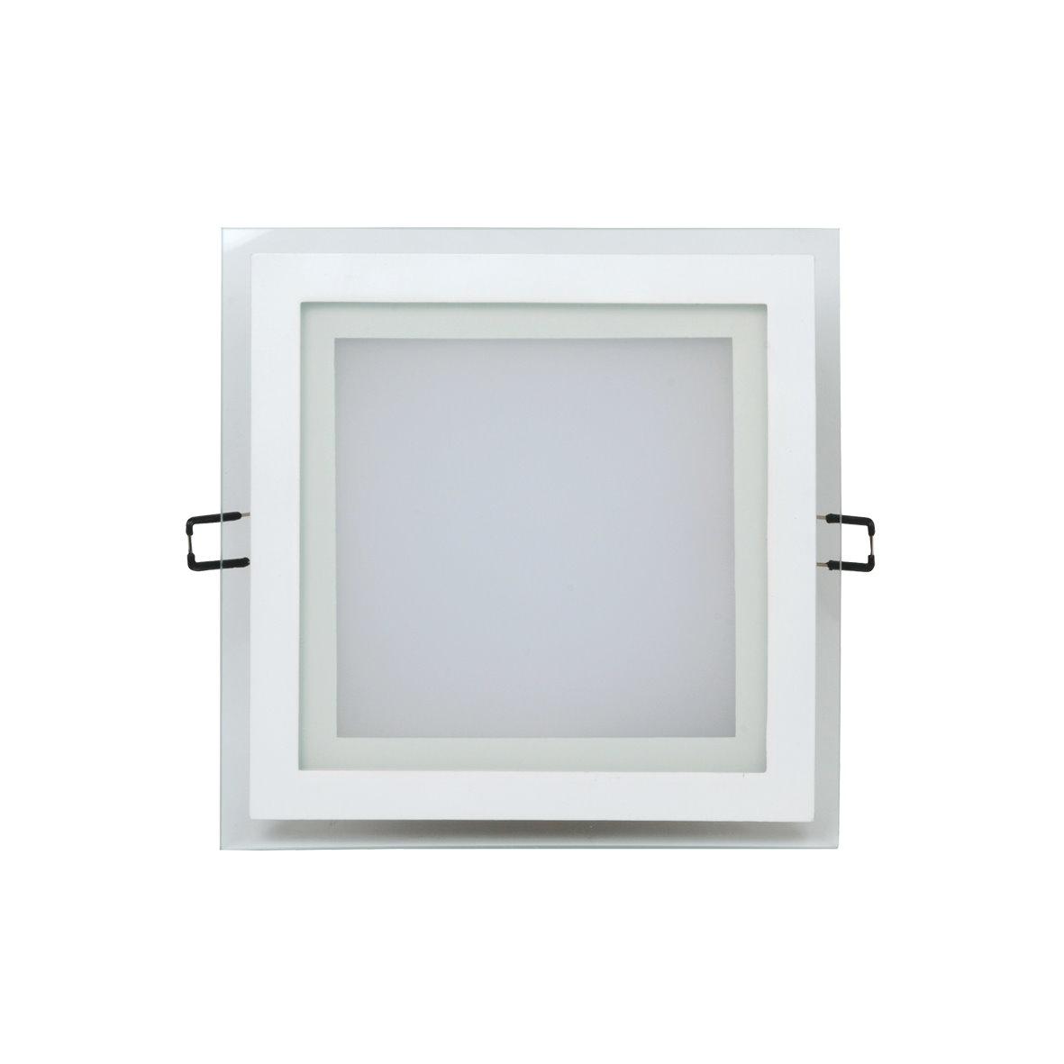 led einbaustrahler kristallglas panel leuchte trafo 230v 6w 15w bis 1200lm ebay. Black Bedroom Furniture Sets. Home Design Ideas