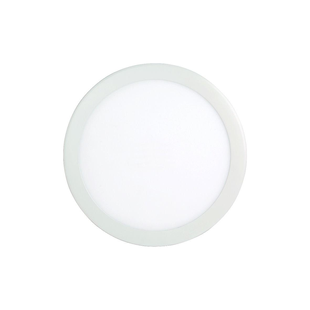 Led smd panel ultraslim slim leuchte rund alu flach for Led deckenleuchte rund flach