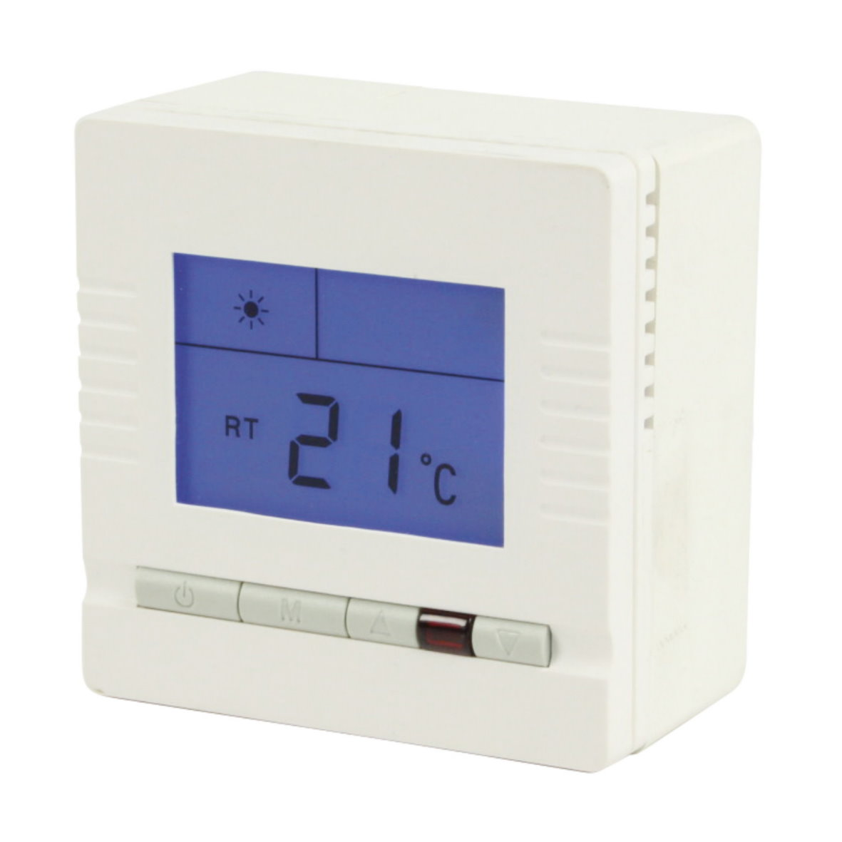 analoger digitaler raumthermostat heizung thermostat. Black Bedroom Furniture Sets. Home Design Ideas