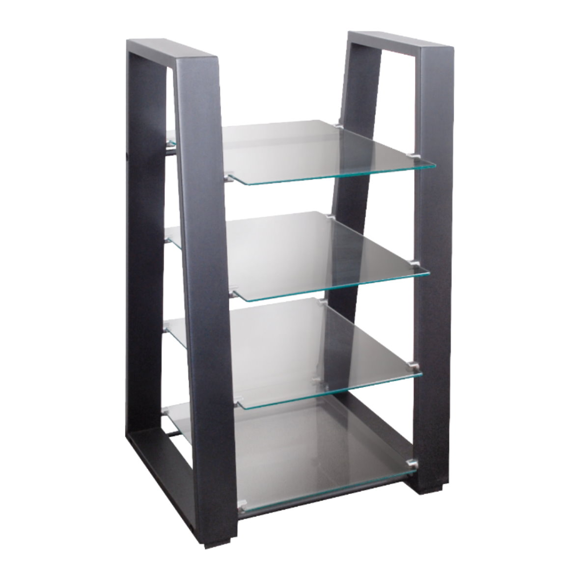 tv hifi rack shelf stand glass safety aluminium solid. Black Bedroom Furniture Sets. Home Design Ideas