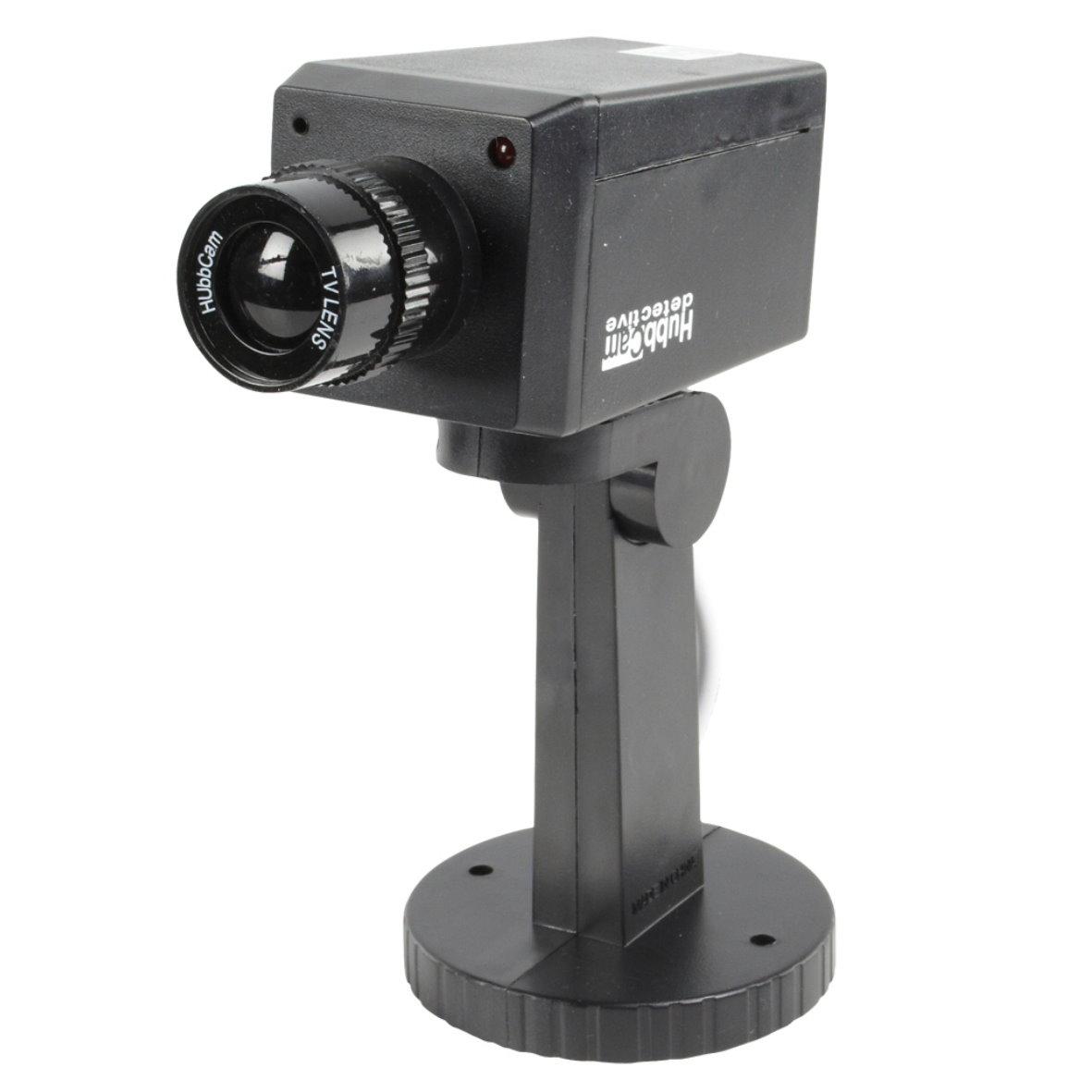 kamera dummy attrappe berwachungskamera alarmanlage camera schwarz silber cam ebay. Black Bedroom Furniture Sets. Home Design Ideas