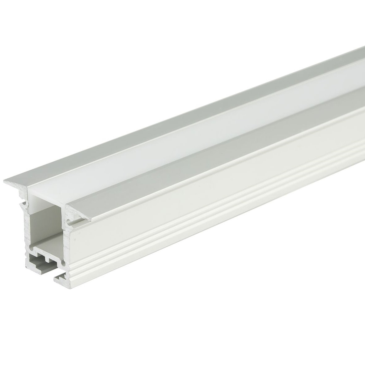 19 9 m led aluminium profil aluprofil abdeckung eloxiert strip lichtband ebay. Black Bedroom Furniture Sets. Home Design Ideas