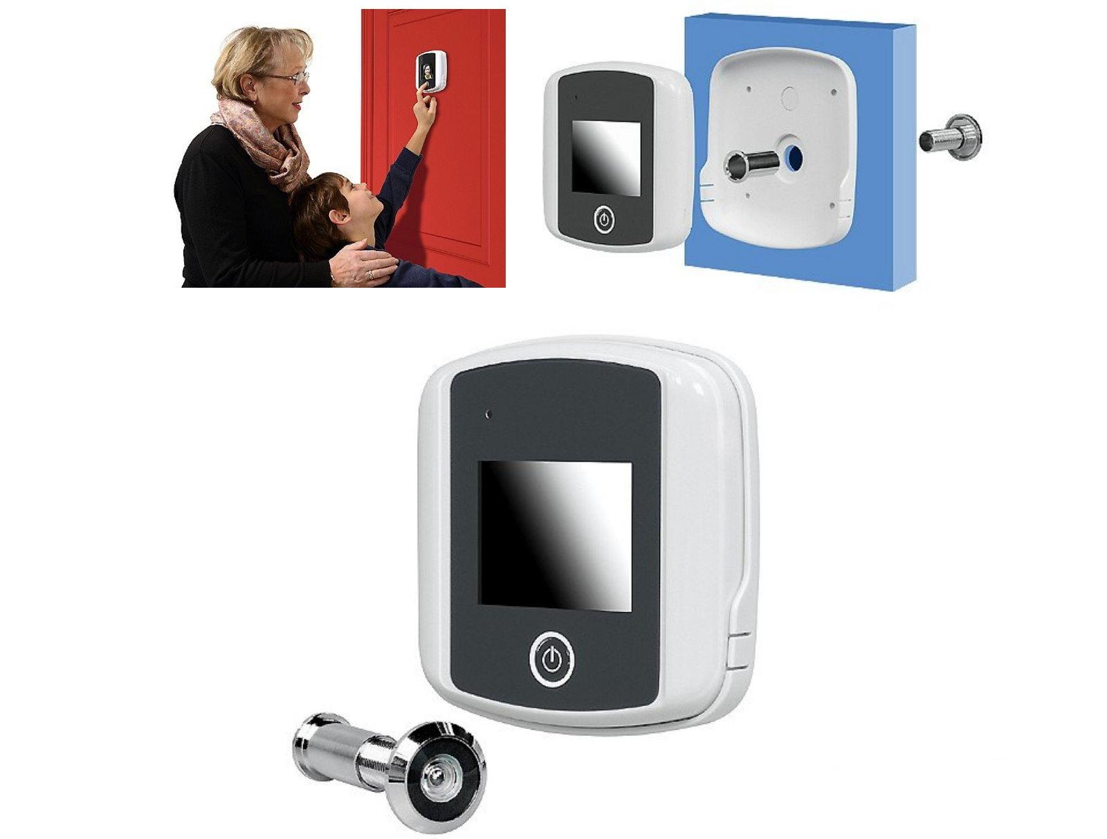 pentatech digitaler t rspion t r lcd farbdisplay t rkamera digital spion kamera. Black Bedroom Furniture Sets. Home Design Ideas