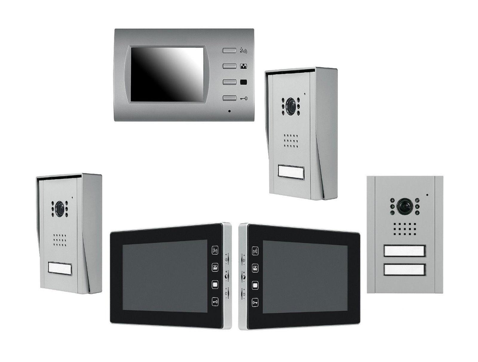 pentatech audio video sprechanlage 1 bis 2 familien t rsprechanlage 3 5 7zoll ebay. Black Bedroom Furniture Sets. Home Design Ideas